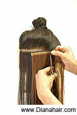 Cut the desired width of the Skin Extension with a scissor