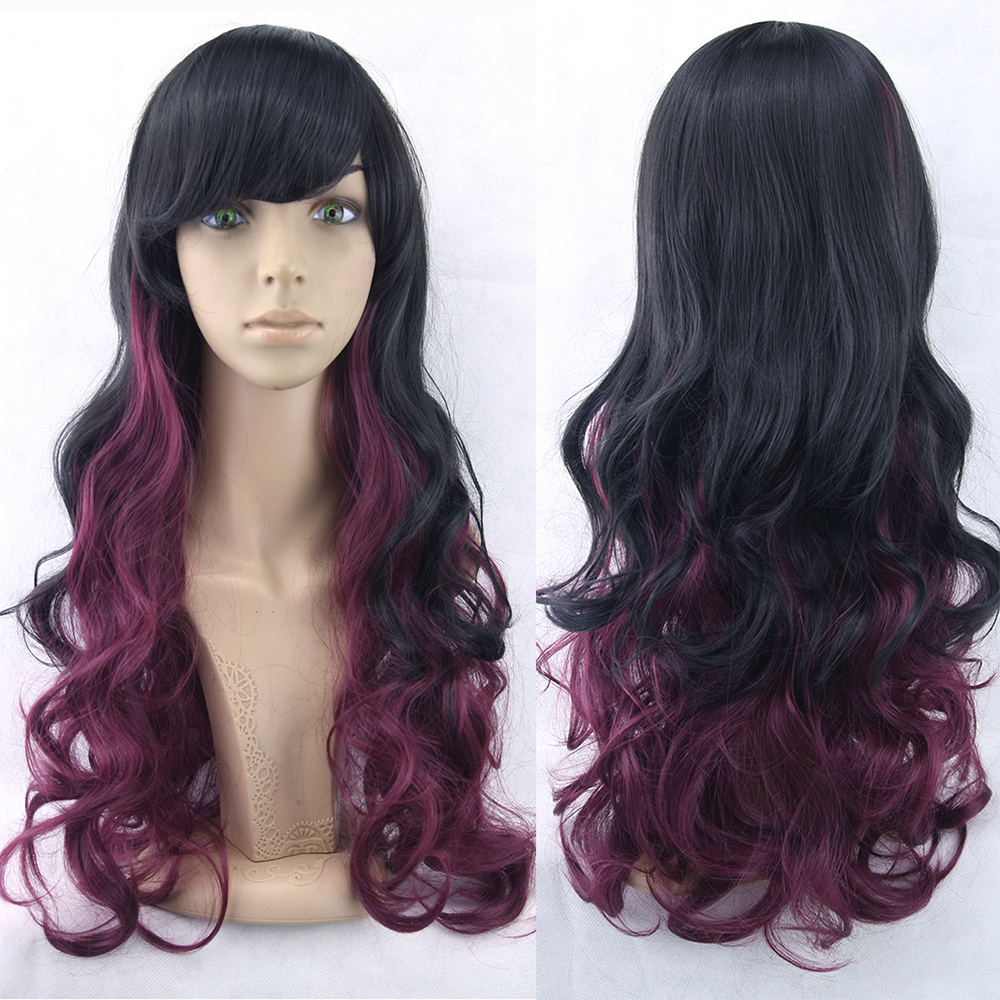 70cm 11colors Cosplay Synthetic Wigs Perruque Women Hair